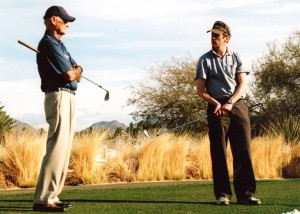 Ian with Don at The Butch Harmon Golf School